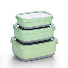 PREMIUM MATERIAL – Made of premium SS304, this set of food containers are sturdy and durable. They are eco-friendly, BPA free and non-toxin, which can keep your food fresh for a long period. Please note these are NOT insulated so they won't keep food...