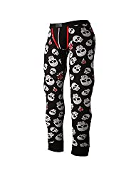 mens thermal leggings with skulls