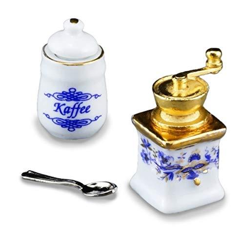 Kaffeemühle und Vorratsdose Zwiebel Gold