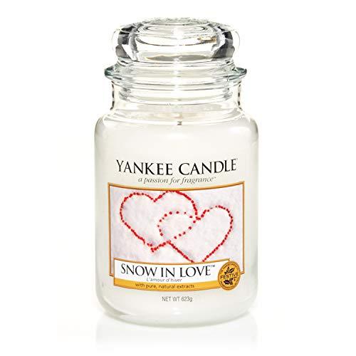 Yankee Candle Duftkerze im großen Jar, Snow in Love, Brenndauer bis zu 150Stunden