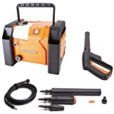 Yard Force 135 Bar 1800W High-Pressure Washer with Accessories, Compact and Portable 360L/H EW U13