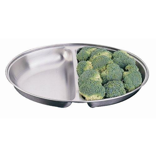 Plat à légumes ovale en acier inoxydable 25,4 cm