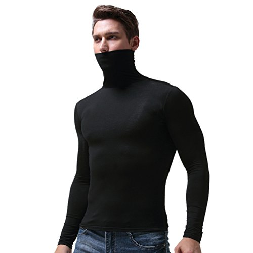 Camisetas Termicas Hombre Manga Larga Cuello Alto Marca YiLianDa