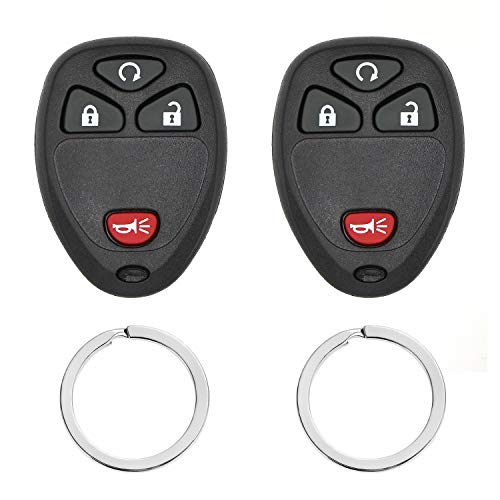Keyless Entry Remote Control Car Key Fob replacement for Chevy Silverado Traverse Equinox Avalanche/GMC Sierra/Pontiac Torrent/Saturn Outlook Vue 2007-2016,