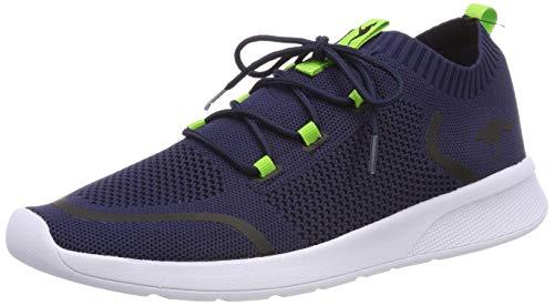 KangaROOS KF Weave Unisex-Kinder Sneaker, Blau (Dark Navy/Lime 4054), 30 EU