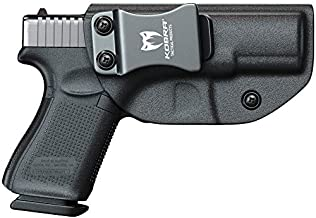 Kobra IWB KYDEX Holster - Inside Waistband with Adjustable Cant for Concealed Carry- Black (Right Hand, Glock 19/19X/23/32)