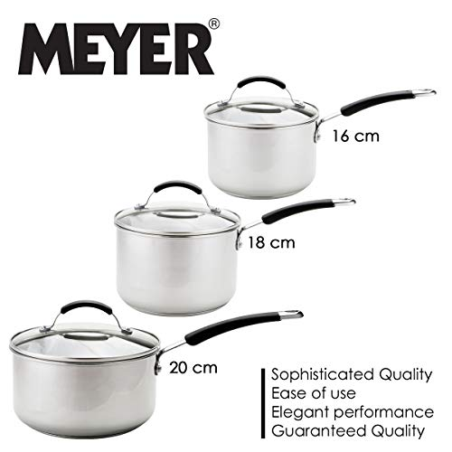 Meyer - Induction - 5-Piece Stainless Steel Cookware Set - Oven and Dishwasher Safe - 10 Years Guarantee