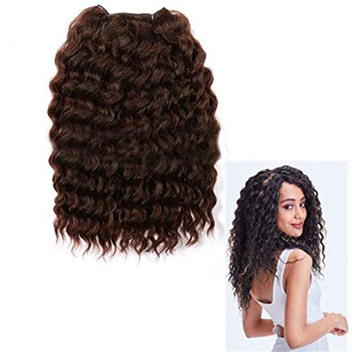 Biple Extensions de cheveux Humains Weaves Synthétique Afro Kinky Curly 14inch OT1B/30