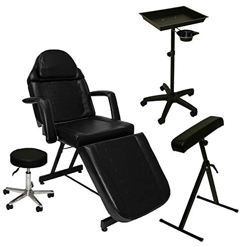LCL Beauty Complete Tattoo Package: Tattoo Bed, Artist Chair, Portable Tray