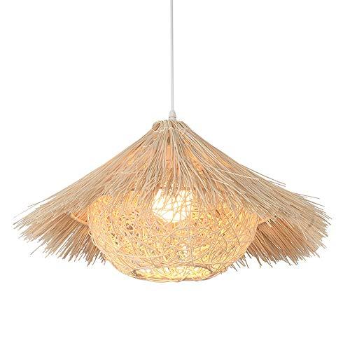 MQQ Simplicity Country Bamboo Rattan Colgante Luz, Lámpara De Techo Creativo Enchufe Lámparas Decorativas, Accesorios De Luz Colgante para Restaurante Bar Cocina Comedor Salón (Color : 40CM)