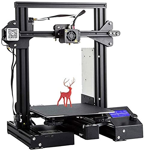RSBCSHI 3D Printer, Extruder With Suspended Filament Rack/Power Supply Resume Printing, For Hobbyists And Home School, Gift,Black