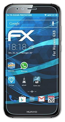 atFolix Schutzfolie kompatibel mit Huawei GX8 Folie, ultraklare FX Bildschirmschutzfolie (3X)