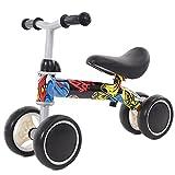 Ckssyao Juguetes de Bicicleta Sin Pedales, Sin Pedales para Niños de 1 a 3 Años, Niñas y Niños Pequeños, 55 * 43 cm,Azul