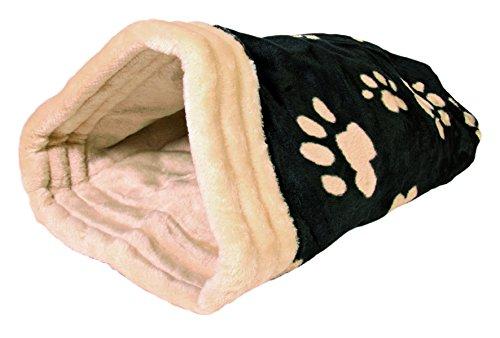 Trixie 36863 Kuschelsack Jasira, 25 × 27 × 45 cm, schwarz/beige