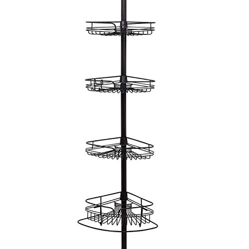 Zenna Home Shower Tension Pole Caddy, Bronze
