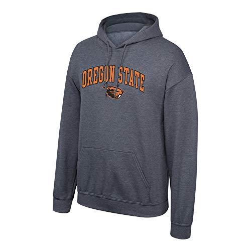 Elite Fan Shop Oregon State Beavers Men's Dark Heather Arch Hoodie Sweatshirt, XX-Large