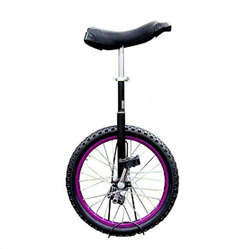 Freestyle Einrad 16/18/20 Zoll Single Round Kinder 'Adult Adjustable Height Balance Radfahren Übung Lila