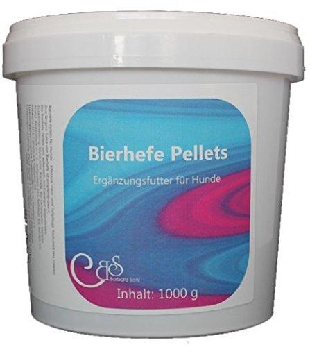 Barbara Seitz Bierhefe Pellets für Hunde 1000 g - Für Hundefell & Haut, Barfen, mit Kieselgur, Fellwechselpflege