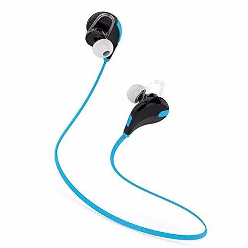 TOOGOO(R)Bluetooth 4.0 Wireless Headset Sport Casque pour iPhone 4 5 6 Plus SE Couleur: bleu