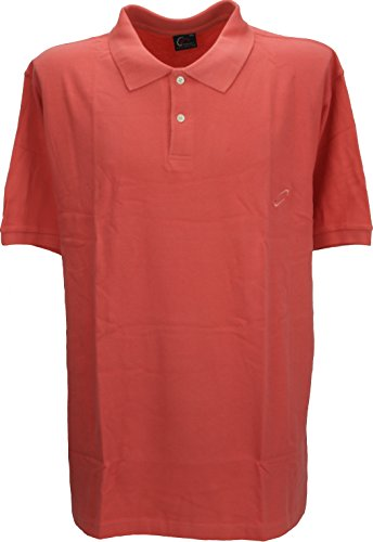 Perfect Collection Col Bouton à Manches Courtes Polo Top Shirt Coral 2XL