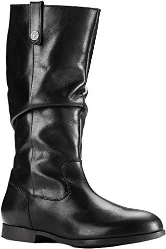 Birkenstock Women's Sarnia High Boot Black Leather Size 37 M EU