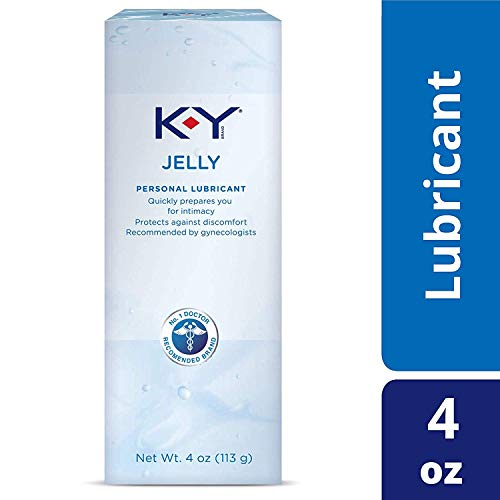 K-Y Jelly Premium Water Based Lube- Personal Lubricant Safe To Use With Latex Condoms, Devices, Sex Toys and Vibrators, 4 oz. (Pack of 5)