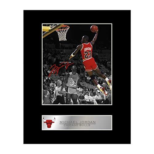 Michael Jordan Signiert Foto Display Chicago Bulls # 2