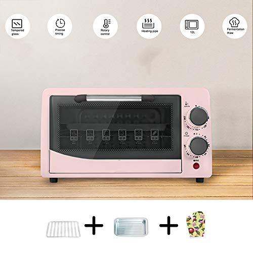 Fruitdroger In De Oven, 60 Minuten Timer 40-230 ° Temperatuuraanpassing Antislipknop, 600W12L Dubbellaags, Explosieveilige Oliebestendige Gehard Glaslaag, Snack Food Manufacturers,Pink-3