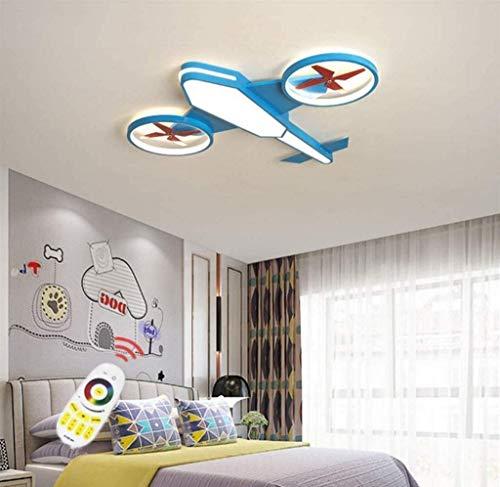 wangYUEQ Deckenleuchte für Kinder Deckenleuchte Flugzeuge Schlafzimmer Lampe LED Lampe Baby Kindergarten Deckenleuchte Baby Lampe Moderne Kinder Lampe Remote DIMMLUUML; Ster, blau