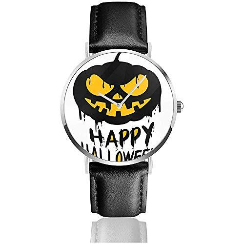 Glückliches Halloween mit Jack O Lantern Pumpkin Watch Armbanduhren Business Watch