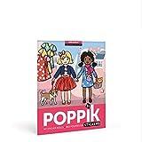 Poppik Sticker Poster Lehriech, Farben und Formen - MÄDCHENMODE - 200 Sticker + 1 Poster - (Kinder...