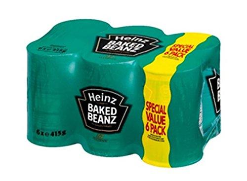Heinz Baked Beanz 6x 415g - Gebackene Bohnen in Tomatensauce