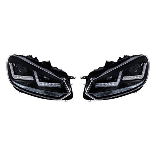 Osram LEDHL102-BK RHD Faros LED para el Golf 6. Adecuado para veh&iacuteculos con volante a la derecha, Negro, Set de 2