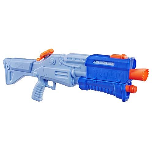 Super soaker E6876EU4 Fortnite TS-R Nerf Wasserblaster Spielzeug – Pump-Action – Kapazität von 1 L – Für Kinder, Jugendliche und Erwachsene, Mehrfarbig, Box size: 65 x 26.5 x 6.5cm