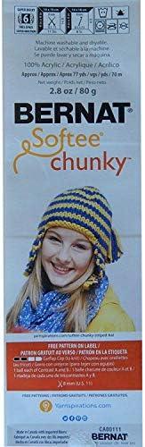 Bernat Softee Chunky Yarn 2-Pack Super Bulky #6 Each 2.8 Ounce 100/% Acrylic Deep Waters