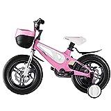 WYYY 12'14' 16'18' Bicicleta para Niños Marco De Aleación De Magnesio para Niños Y Niñas Bicicletas De 3 A 10 Años De Edad (Negro Y Rosa Y Rojo) Bicicleta para Niños(Size:18in,Color:Rosa)
