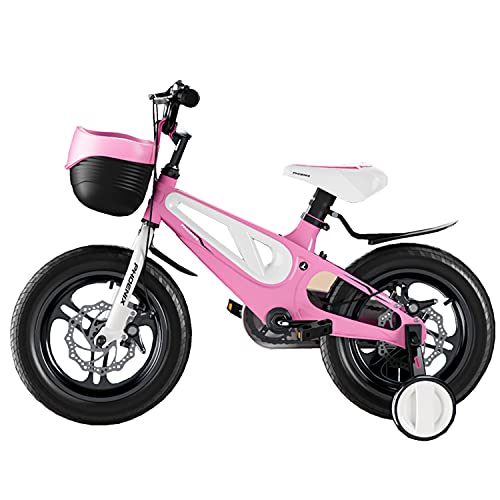 WYYY 12' 14' 16' 18'Kids Bike For Girls & Boys Ages 3-10 Years Old Children Bicycle Front And Rear Dual Disc Brakes Configuration The Best Children's Day Gift(Size:18in,Color:pink)