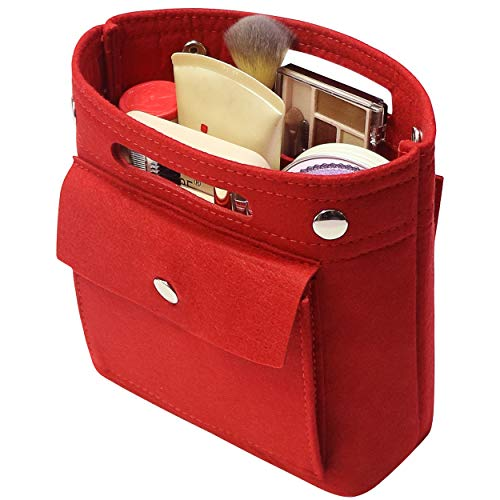 Soyizon Purse Organizer Insert per Tote Bag, Borsa in borsa, Mini Bag Insert per LV Speedy Neverfull NeoNoe Noe BB, Rosso