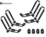 DrSportsUSA Folding Car Roof Top Carrier 2 Pairs Universal Foldable J-Bar Kayak Rack for Canoe, SUP and Kayaks Mounted on Your Car SUV
