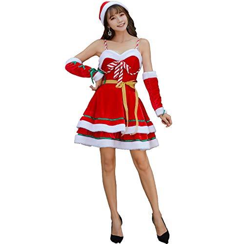 MIOANFG Ropa De Fiesta Japonesa Y Coreana Disfraz De Navidad Sexy Uniforme De Juego Disfraz De Navidad Lindo