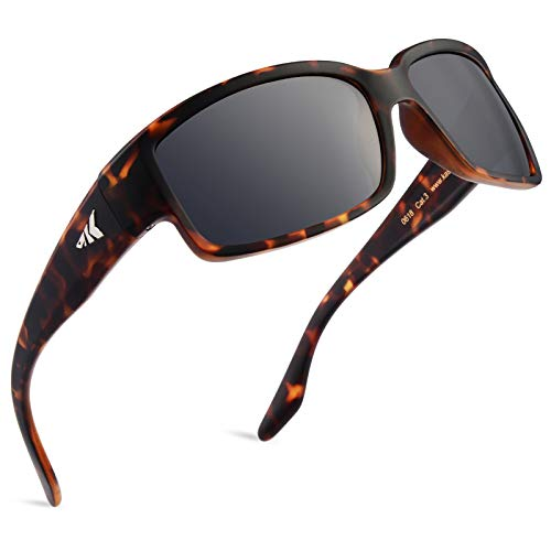 KastKing Skidaway Polarized Sport Sunglasses for Men and Women, Matte Demi Frame, Smoke Lens