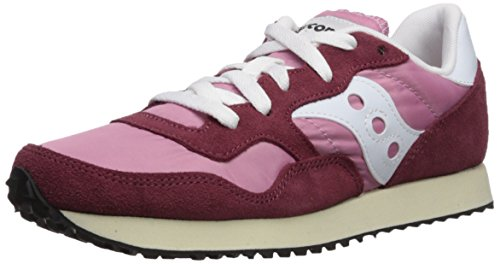 Saucony Women's DXN Trainer Vintage Running Shoe, Burgundy/Pink, 5 Medium US