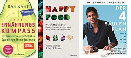 Geschenkpaket Ernährung: 'Der Ernährungskompass' + 'Happy Food' + 'Der 4-Säulen-Plan'