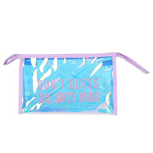 Trousse de toilette, sacs à cosmétiques portables transparents pour salle de bain pour organisation(Violet)
