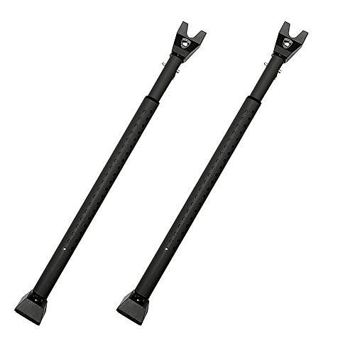 Guard Dog Security Door Jammer 2-in-1 Adjustable Door Knob Jammer & Sliding Patio Door Security Bar – 40 Different adjustments - 2 Pack (Black)