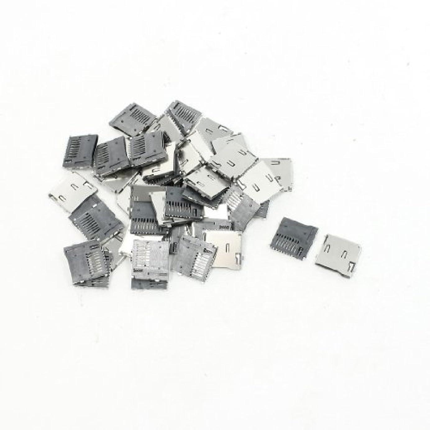 商業の香ばしい擬人eDealMax 50キット del TF Memoria Micro SD de sockets ranuras de tarjetas tirón rápido