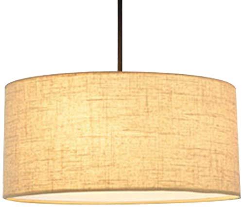 JIAN Exquisite Lighting ZjNhl lampenkap, eenvoudig, doorlaatbaarheid, modern licht, linnen scherm, 30 x 30 x 18 cm (kleur: linnen)