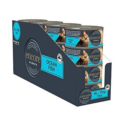 Encore 100% Natural Cat Food Tin 1x(16x70g) Ocean Fish, Pack of 16