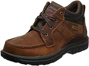 Skechers USA Men's Segment Melego Ankle Bootie,Dark Brown,12 2W US