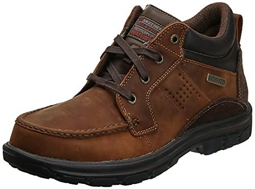 Skechers Men's Segment Melego Chukka Boot, Dark Brown, 9 D(M) US